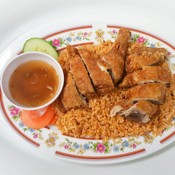 Crispy Chicken on Fried Rice